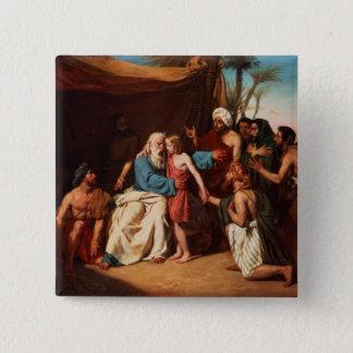 Jacob refusing to release Benjamin, 1829 (oil on c Pinback Button