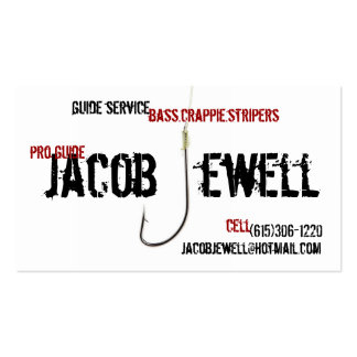 Jacob s Fishing Guide Service Business Card