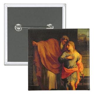Jacob Sending his Son, Joseph 2 Inch Square Button