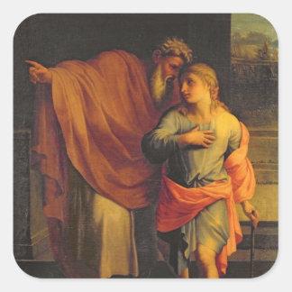 Jacob Sending his Son, Joseph Square Sticker