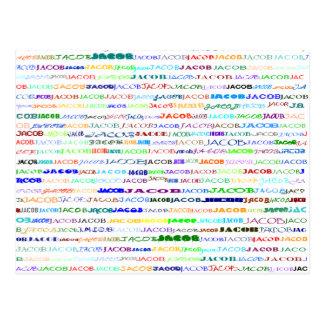 Jacob Text Design II Postcard