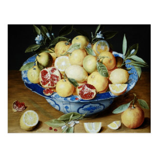 Jacob van Hulsdonck - Still life with lemons orang Postcard