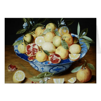 Jacob van Hulsdonck - Still life with lemons orang Stationery Note Card