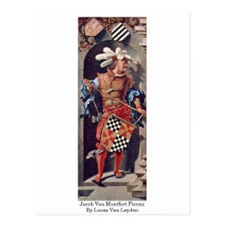 Jacob Van Montfort Florisz By Lucas Van Leyden Post Cards