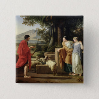 Jacob with the Daughters of Laban, 1787 Pinback Button