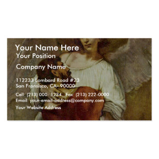Jacob Wrestling With The Angel By Rembrandt Business Card Template