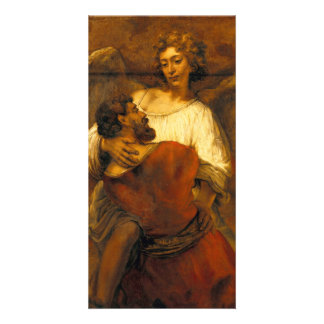 Jacob Wrestling with the Angel by Rembrandt Card