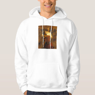 Jacob Wrestling with the Angel by Rembrandt Hooded Pullover