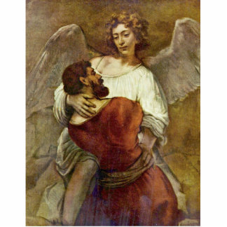 Jacob Wrestling With The Angel By Rembrandt Statuette