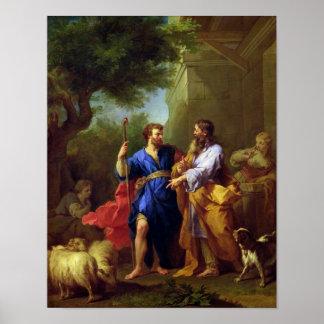 Jacob y Laban, antes de 1737 Póster