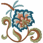 Jacobean Bloom & Dragonfly 2 Embroidered Hooded Sweatshirt