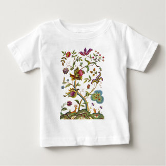 Jacobean Crewel Embroidery Tree of Life Baby T-Shirt