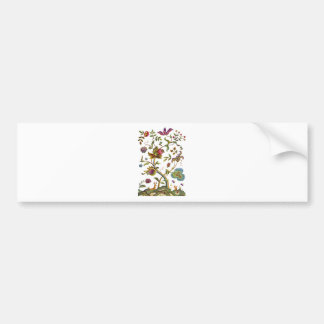 Jacobean Crewel Embroidery Tree of Life Bumper Sticker