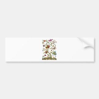 Jacobean Crewel Embroidery Tree of Life Bumper Sticker