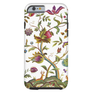 Jacobean Crewel Embroidery Tree of Life Tough iPhone 6 Case