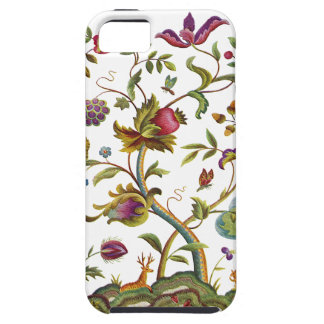 Jacobean Crewel Embroidery Tree of Life iPhone 5 Covers