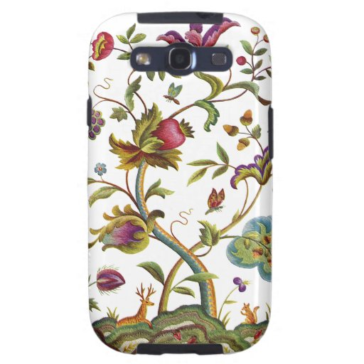Jacobean Crewel Embroidery Tree of Life Samsung Galaxy SIII Case
