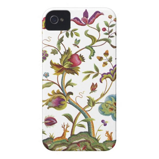 Jacobean crewel embroidery tree of life iphone 4 case mate for Descargar embroidery office design 7 5 full