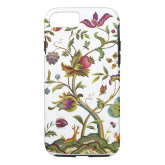 Jacobean Crewel Embroidery Tree of Life iPhone 7 Case
