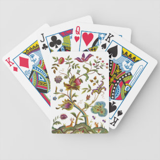 Jacobean Crewel Embroidery Tree of Life Bicycle Card Deck
