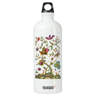 Jacobean Crewel Embroidery Tree of Life Water Bottle