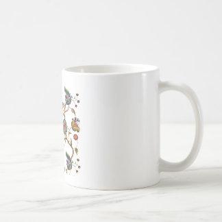 Jacobean Embroidered Albemarle Pattern Coffee Mug