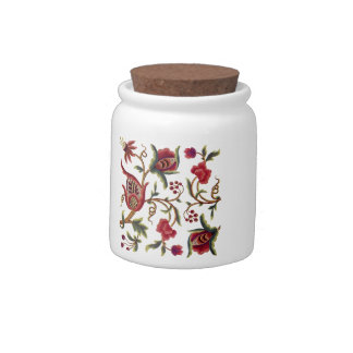 Jacobean Embroidery Candy Jar