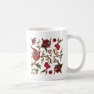 Jacobean Embroidery Coffee Mug