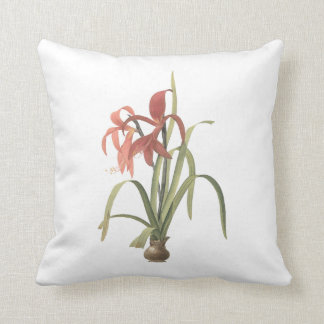 jacobean lily(Amaryllis formosissima) by Redouté Pillow