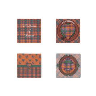 Jacobite clan Plaid Scottish tartan Stone Magnet