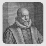 Jacobo Arminius Calcomanía Cuadrada Personalizada