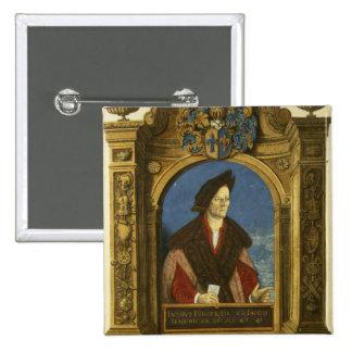 Jacobo Fugger, de 'Geheim Ehrenbuch Pin Cuadrada 5 Cm