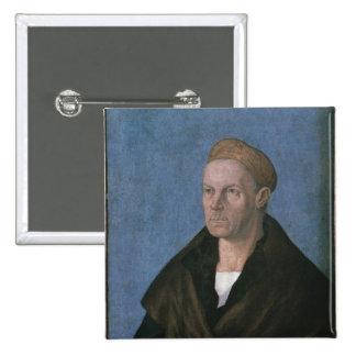 Jacobo Fugger, los ricos Pin Cuadrada 5 Cm