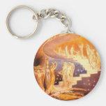Jacob's Dream By William Blake Basic Round Button Keychain