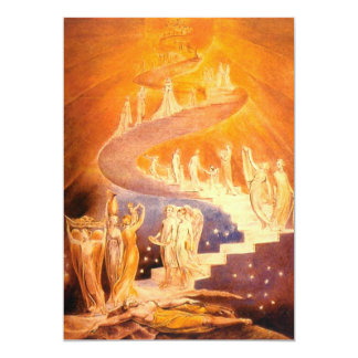 Jacob's Dream By William Blake Card