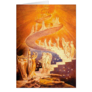 Jacob's Dream By William Blake Greeting Card