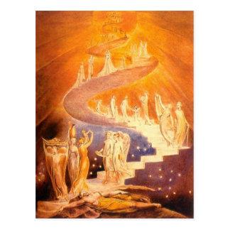 Jacob's Dream By William Blake Postcard
