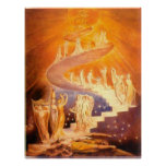 Jacob's Dream By William Blake Poster