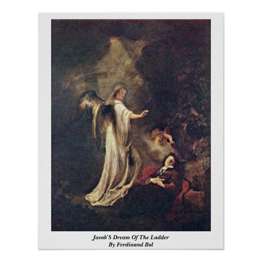 Jacob'S Dream Of The Ladder By Ferdinand Bol Poster