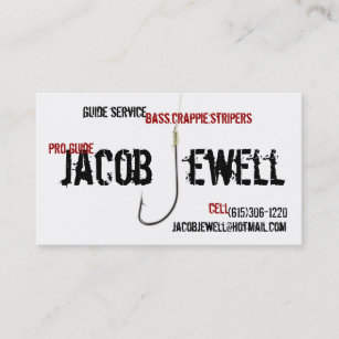 Fishing business cards zazzle jacobs fishing guide service business card colourmoves