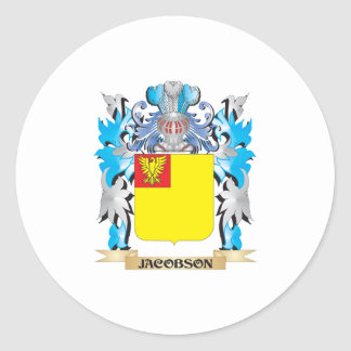 Jacobson Coat of Arms - Family Crest Sticker