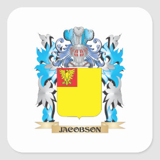 Jacobson Coat of Arms - Family Crest Stickers