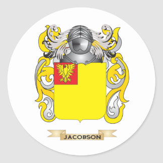 Jacobson Coat of Arms (Family Crest) Sticker