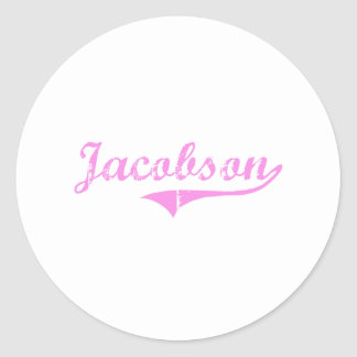 Jacobson Last Name Classic Style Sticker