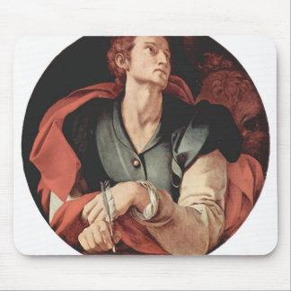 Jacopo Pontormo- cuatro evangelistas: Santo Lucas Alfombrillas De Ratón