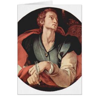 Jacopo Pontormo- cuatro evangelistas: Santo Lucas Tarjeta De Felicitación