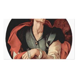 Jacopo Pontormo- cuatro evangelistas: Santo Lucas Tarjetas De Visita