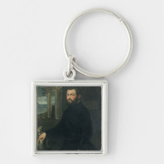 Jacopo Sansovino , originally Tatti Silver-Colored Square Keychain