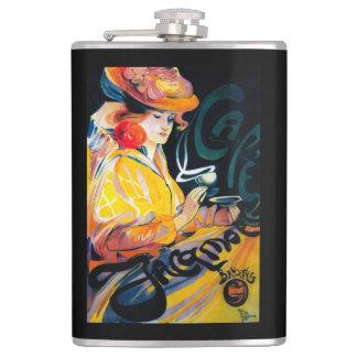 Jacqmotte Caf� Vintage PosterEurope Hip Flask