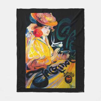 Jacqmotte Caf� Vintage PosterEurope Fleece Blanket